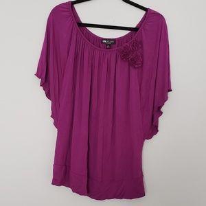 I.N. Studios | Pink Purple Top | Size 1X
